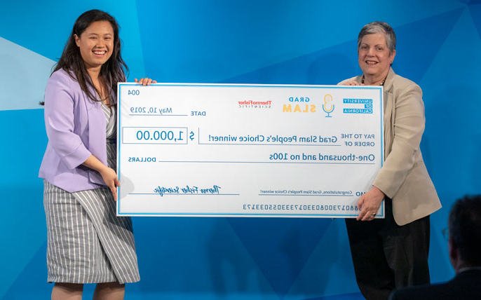 Ahn Diep with her check