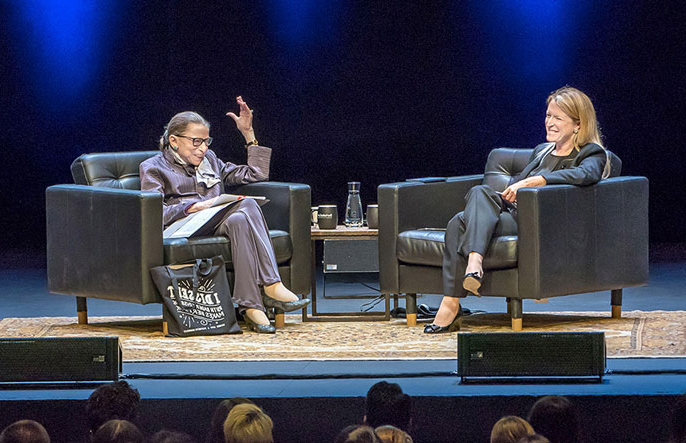 Ginsburg at the Berkeley Law lecture