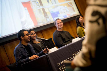 Grad students in pre-event panel